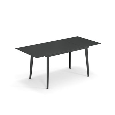 Outdoor - Garden Tables - Plus4 Balcony Extending table - / L 120 + 52 cm - 4 to 6 people by Emu - Antique Iron - Varnished steel