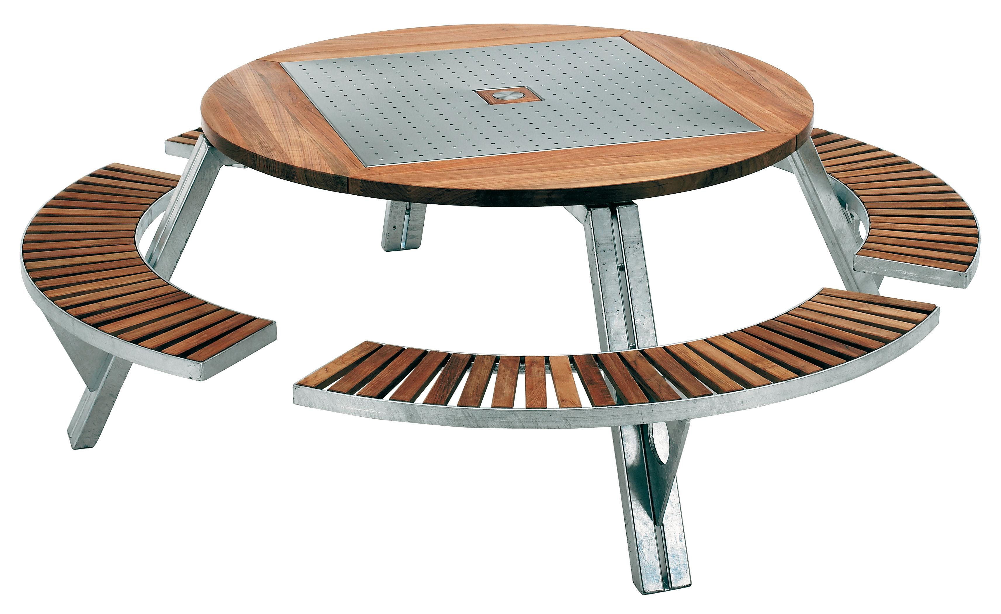 Gargantua Garden Table Adjustable Table And Bench Set