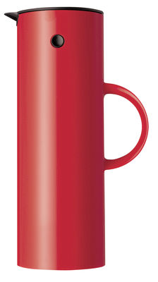 Tableware - Tea & Coffee Accessories - Classic EM77 Insulated jug by Stelton - Red - 1 Litre - Soft touch ABS