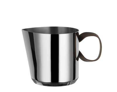 Kitchenware - Kettles & Teapots - Edo Kettle - / H 13 cm - 1.3 L by Alessi - Steel / Brown handle - Stainless steel 18/10