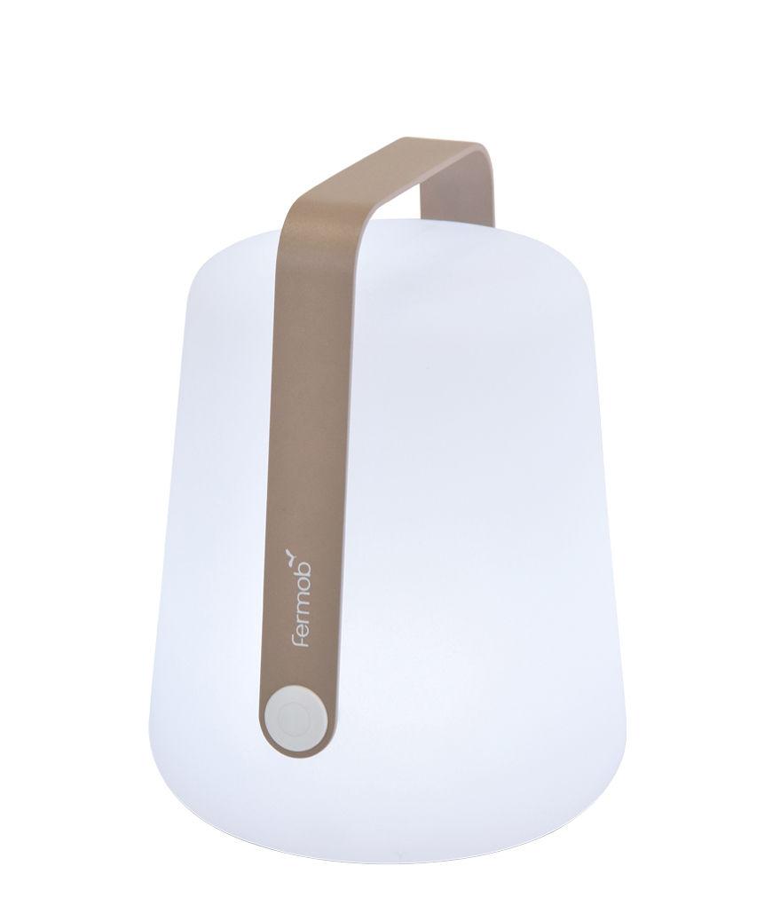 Illuminazione - Lampade da tavolo - Lampada senza fili Balad / LED - Ricarica USB - Fermob - Noce moscata - Alluminio, Polietilene