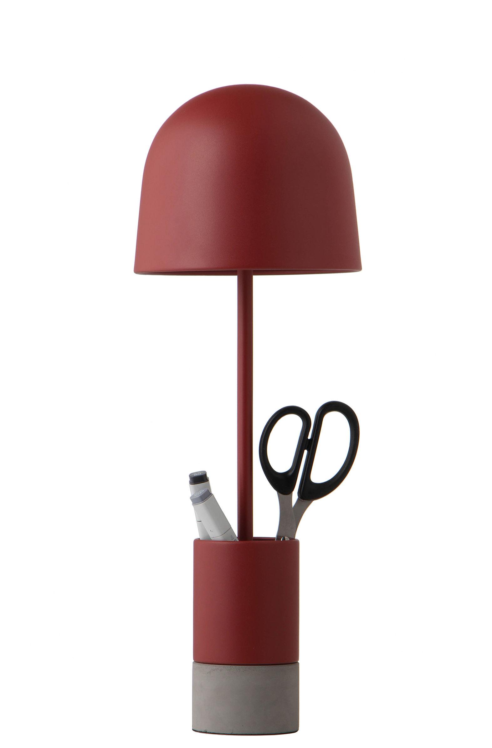 Luminaire - Lampes de table - Lampe de table Pen / Métal & béton - Frandsen - Rouille mat - Béton, Métal peint
