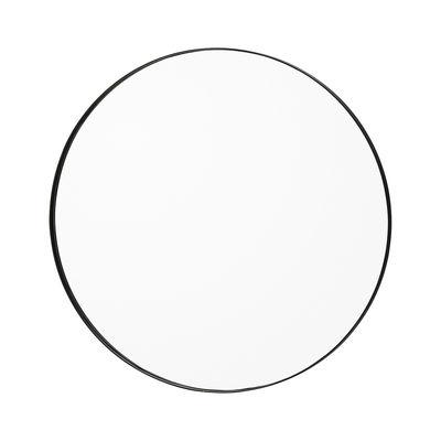 Déco - Miroirs - Miroir mural Circum Small / Ø 70 cm - AYTM - Clair / Cadre noir - MDF peint, Verre