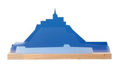 Organiseur de bureau Seaside / L 45 cm - L'atelier d'exercices bleu,bois naturel,blanc translucide en matière plastique