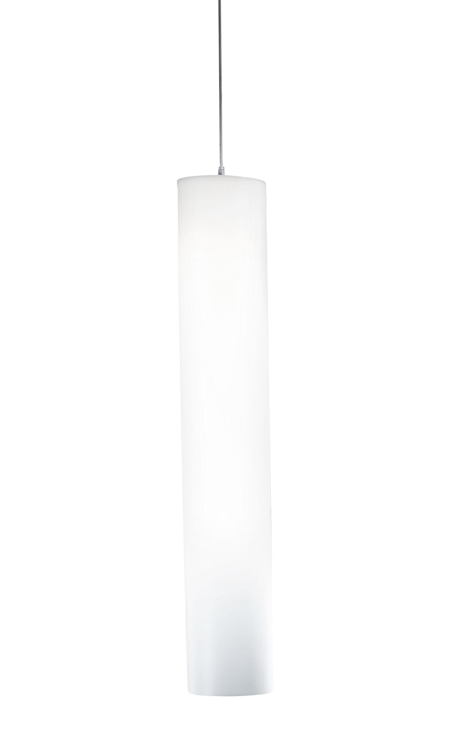 Lighting - Pendant Lighting - Tubo Large Pendant - H 110 cm by Stamp Edition - Large / Translucent white - Metal, Polypropylene