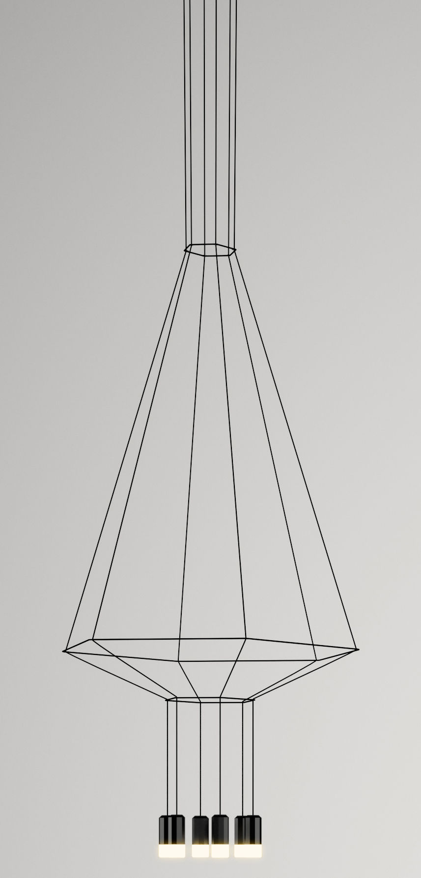 Lighting - Pendant Lighting - Wireflow Pendant by Vibia - Black - Fabric, Glass, Lacquered metal, Teflon
