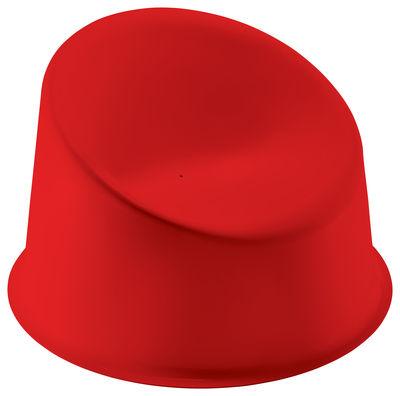 Arredamento - Poltrone design  - Poltrona bassa Panto Pop - / Panton 1969 di Verpan - Rosso - Materiale plastico
