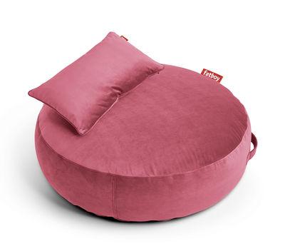 Pouf Pupillow Velvet / Velours - Ø 120 cm - Fatboy Ø 120 - Epaisseur 30 cm rose en tissu