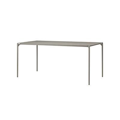 Outdoor - Garden Tables - Novo Rectangular table - / 160 x 80 cm - Metal by AYTM - Taupe - aluminium, powder coating, Powder-coated steel