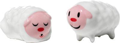 Déco - Décorations de Noël - Santon Tiny little sheeps / Set de 2 - Alessi - Tiny little sheeps - Porcelaine