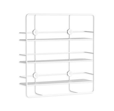 Arredamento - Scaffali e librerie - Mensola Coupé / Rettangolare - Metallo - L 53 x H 56 cm - Woud - Blanc - Metallo rivestito in resina epossidica