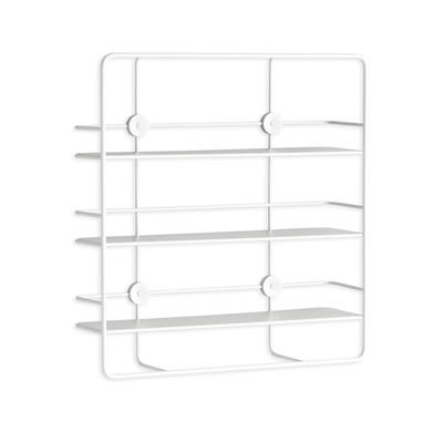 Furniture - Bookcases & Bookshelves - Coupé Shelf - Rectangular - W 53 x H 56 cm by Woud - White - Epoxy lacquered metal