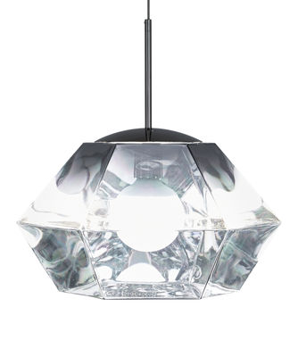 Illuminazione - Lampadari - Sospensione Cut Short - / Ø 44 x H 31 cm di Tom Dixon - Cromato - policarbonato