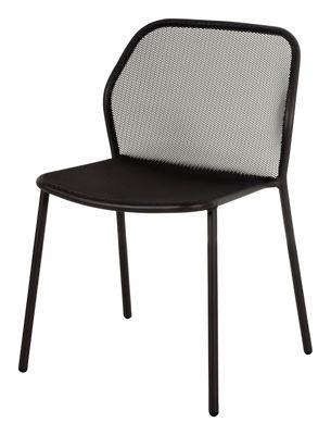 Möbel - Stühle  - Darwin Stapelbarer Stuhl / Metall - Emu - Schwarz - gefirnister Stahl