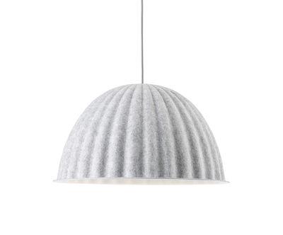 Suspension acoustique Under The Bell Small / Feutre - Ø 55 cm - Muuto blanc mélangé en tissu