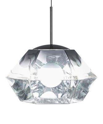 Luminaire - Suspensions - Suspension Cut Short / Ø 44 x H 31 cm - Tom Dixon - Chromé - Polycarbonate