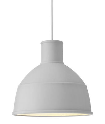 Luminaire - Suspensions - Suspension Unfold / en silicone - Muuto - Gris clair - Silicone