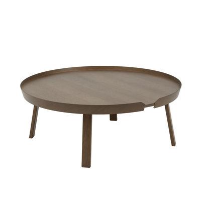 Mobilier - Tables basses - Table basse Around XL / Ø 95 x H 36 cm - Muuto - Bois foncé - Frêne teinté