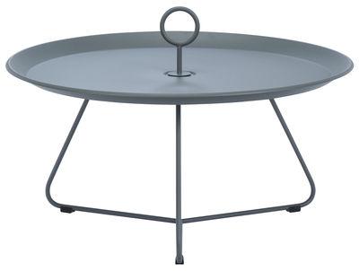 Table basse Eyelet Large / Ø 70 x H 35 cm - Houe gris foncé en métal