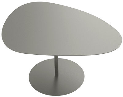 Table basse Galet n°2 / INDOOR - 58 x 75 - H 38,7 cm - Matière Grise taupe en métal