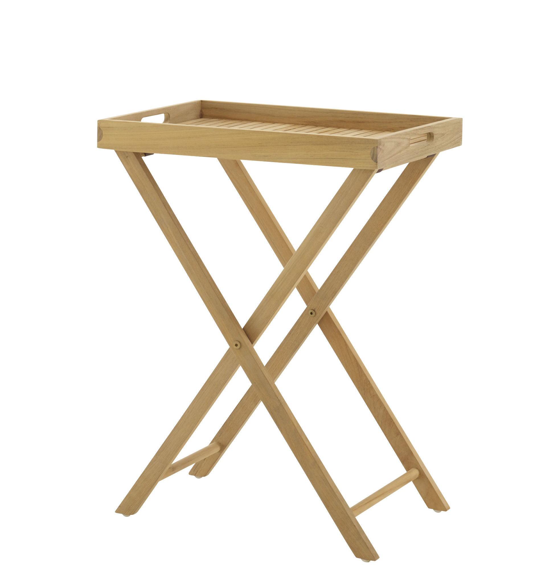 Mobilier - Tables basses - Table d'appoint pliable Azteck / Plateau amovible - 57 x 38 cm - Cinna - Teck - Teck massif
