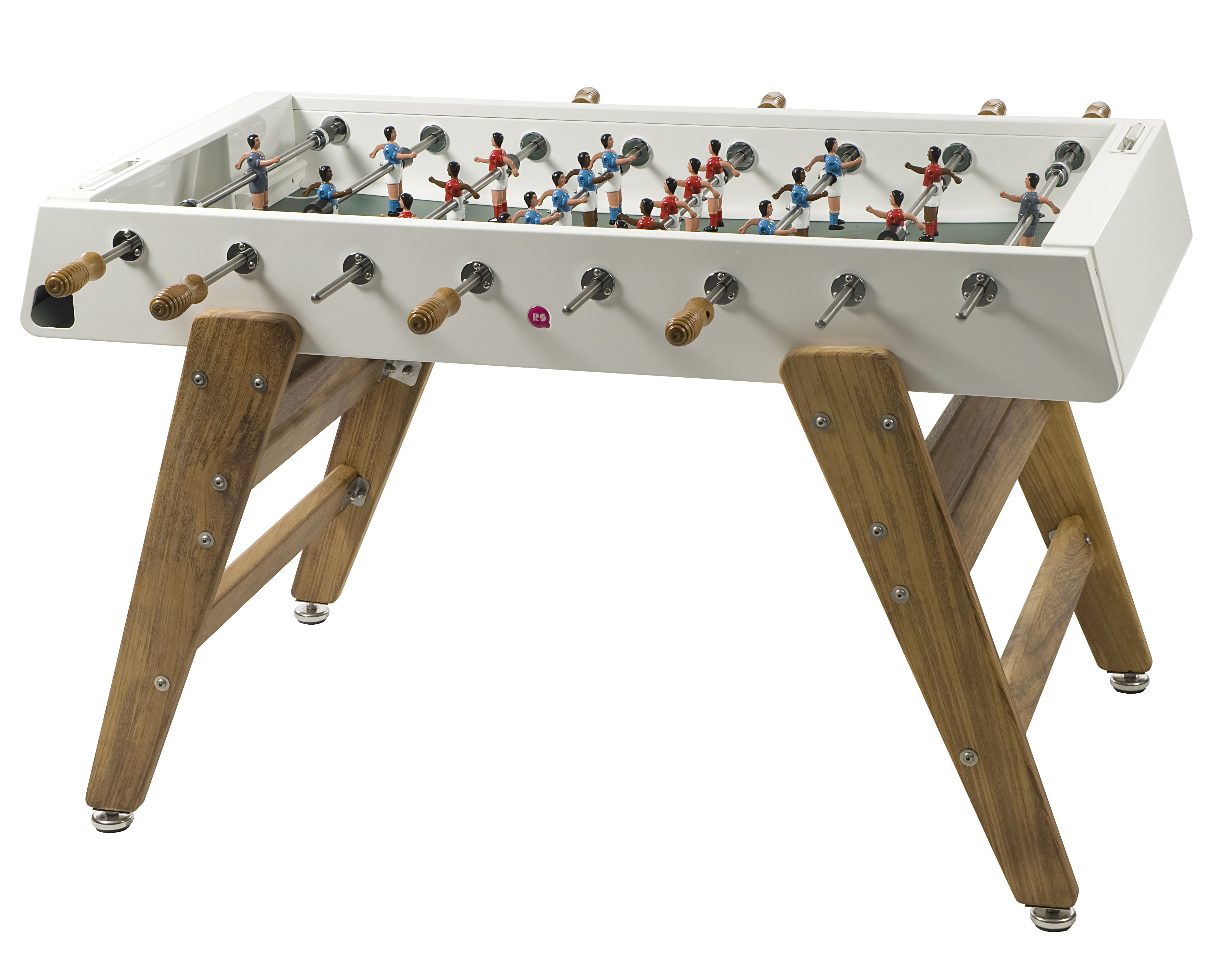 Furniture - Miscellaneous furniture - RS#3 Wood Table football - L 151 cm by RS BARCELONA - White / Wood - Iroko wood, Stainless steel