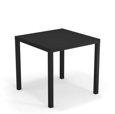 Table Nova Métal 80 x 80 cm Emu noir en métal
