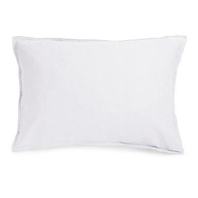 Déco - Textile - Taie d'oreiller 50 x 70 cm / Lin lavé - Au Printemps Paris - 50 x 70 cm / Blanc - Lin lavé