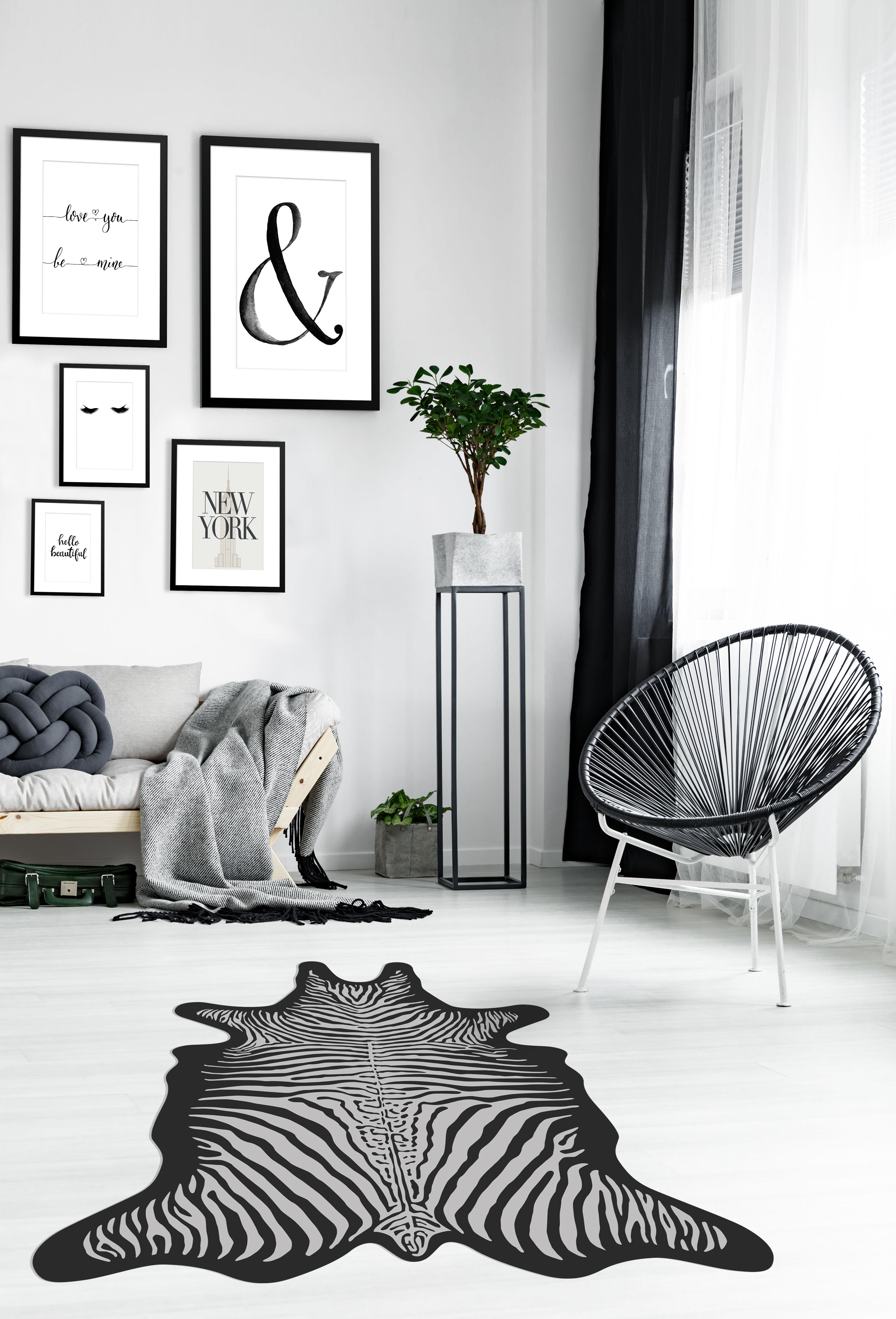 Tapis Zebre Podevache Zebre Noir Blanc Made In Design