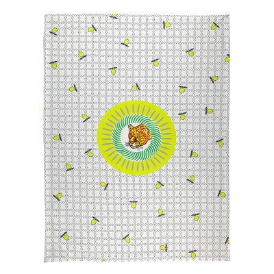 Torchon Tigre / 50 x 70 cm - Coton - Bitossi Home jaune,vert en tissu