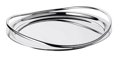 Tableware - Trays - Vertigo Tray - By Andrée Putman - Ø 39 cm by Christofle - Silver - Silvery metal