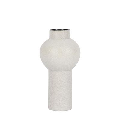 Decoration - Vases - Tenere Medium Vase - / Ø 15 x H 30 cm - Ceramic by ENOstudio - Light grey - Ceramic