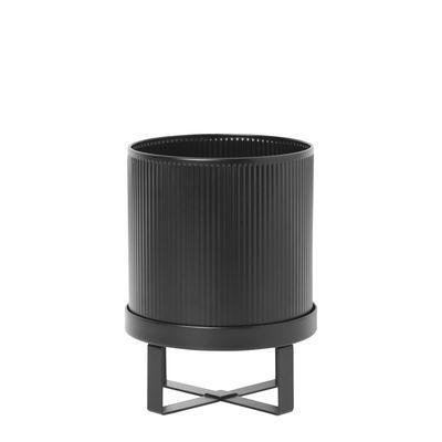 Outdoor - Vasi e Piante - Vaso per fiori Bau Small - / Ø 18 cm - Metallo di Ferm Living - Nero - Acciaio galvanizzato