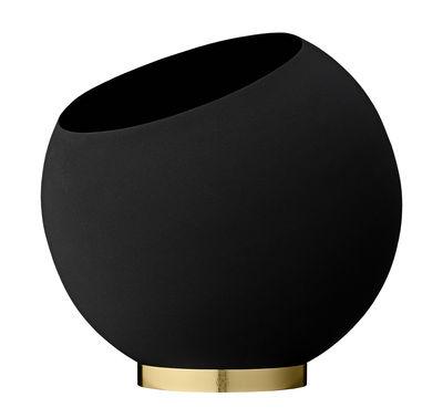 Interni - Vasi - Vaso per fiori Globe - / Ø 37 cm - Metallo di AYTM - Noir & or - Acciaio inossidabile, Ferro dipinto