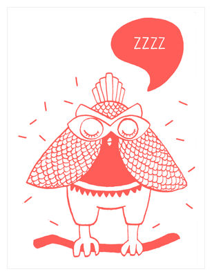 Affiche Loula / Phosphorescente - 30 x 40 cm - OMY Design & Play blanc,rouge corail en papier