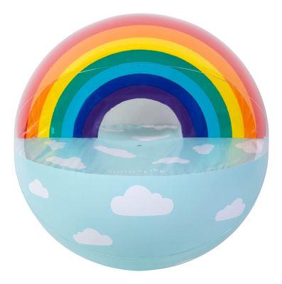 Ballon de plage géant / Arc-en-ciel - Gonflable - Ø 90 cm - Sunnylife multicolore en matière plastique