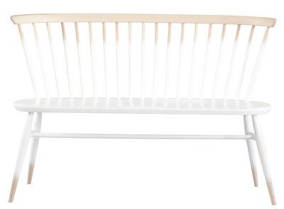 Möbel - Bänke - Love Seat Bank mit Rückenlehne / L 117 cm - Neuauflage des Originals von 1955 - Ercol - Weißtöne / Holz - massive Buche, Massivulme