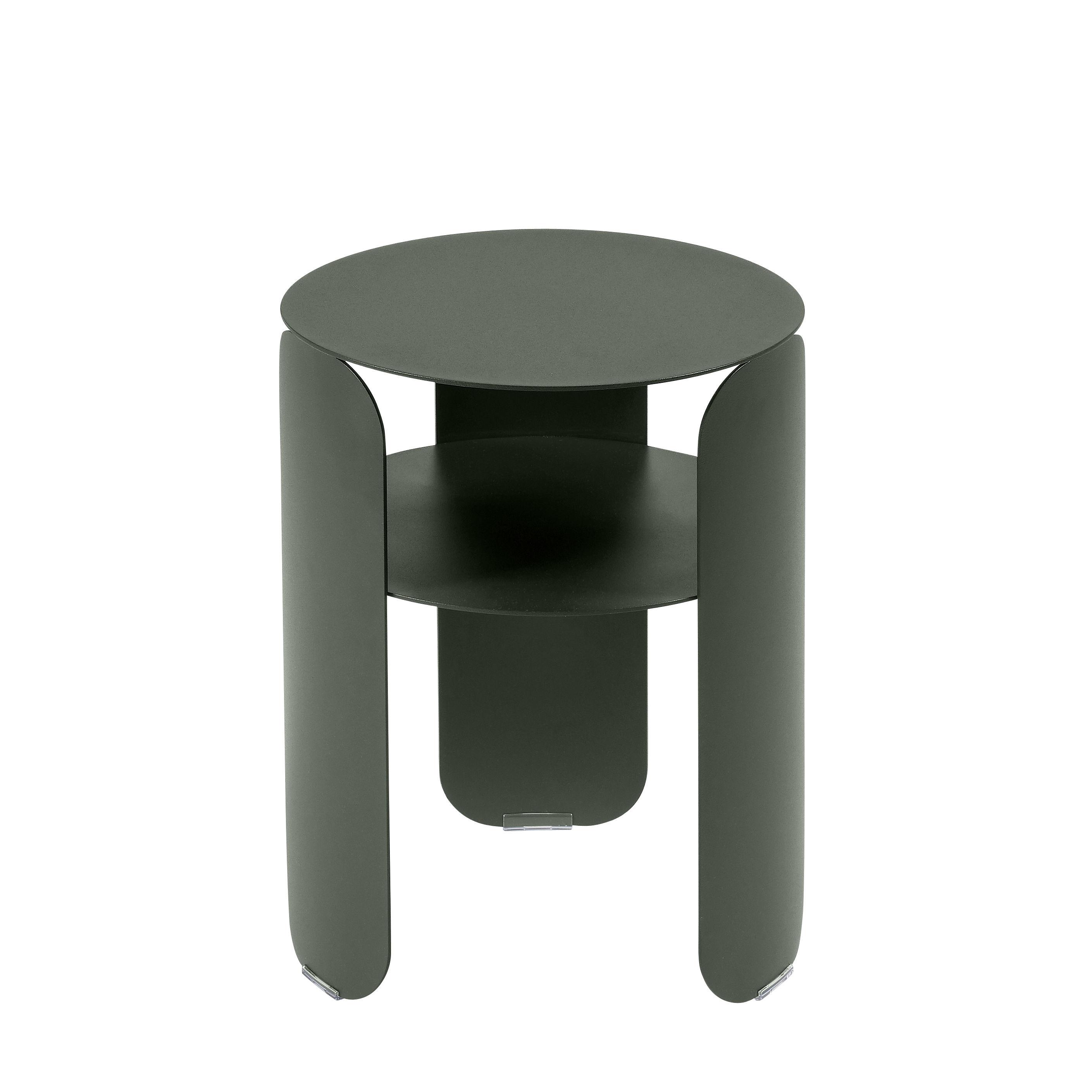 Möbel - Couchtische - Bebop Beistelltisch / Ø 35 x H 45 cm - Fermob - Rosmarin - bemaltes Aluminium