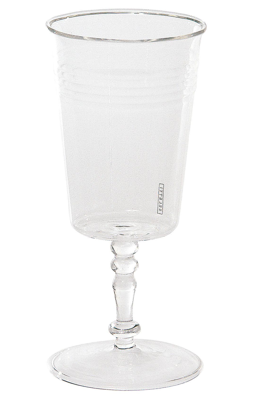 Tavola - Bicchieri  - Bicchiere da vino Estetico quotidiano di Seletti - Trasparente - Bicchiere da vino - Vetro