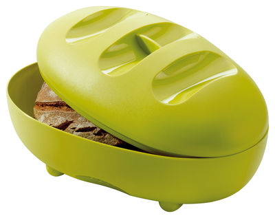 Arts de la table - Boites et pots - Boîte à pain Manna - Koziol - Vert moutarde - Plastique