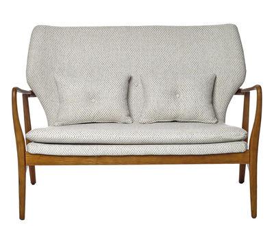 Canapé droit Peggy 2 places L 124 cm Pols Potten beige,bois naturel en tissu