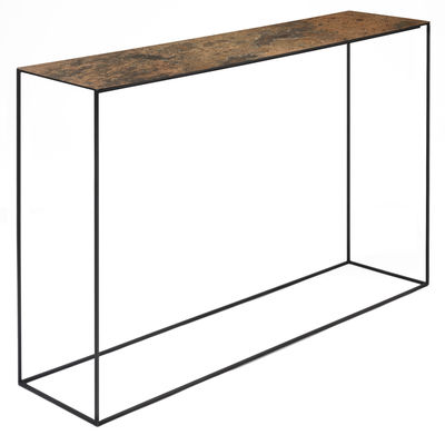 Console Slim Irony ART / L 124 cm - Zeus - Nero ramato,Ruggine patinato - Metallo