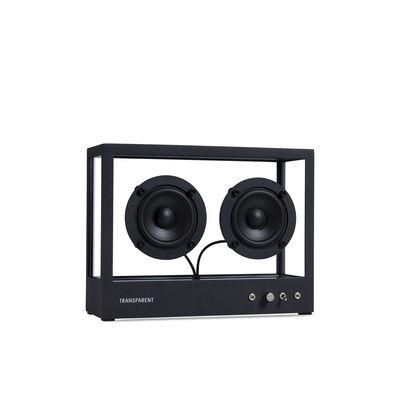 La boutique de Noël - Must-Have - Enceinte Small / L 26 x H 20 cm - Verre trempé - Transparent Speaker - Noir / Transparent - Aluminium, Verre trempé