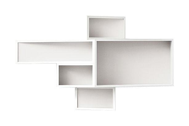 Mobilier - Etagères & bibliothèques - Etagère SheLLf /Petit modèle Uni - Kristalia - l 117 x H 67 cm - Blanc uni - MDF laqué