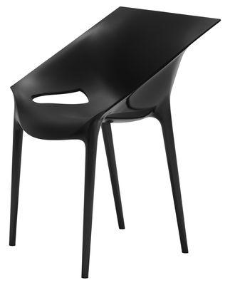 Mobilier - Chaises, fauteuils de salle à manger - Fauteuil empilable Dr. YES / Polypropylène - Kartell - Noir - Polypropylène