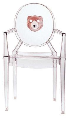 Fauteuil empilable Louis Ghost personnalisé / Polycarbonate - Kartell cristal en matière plastique