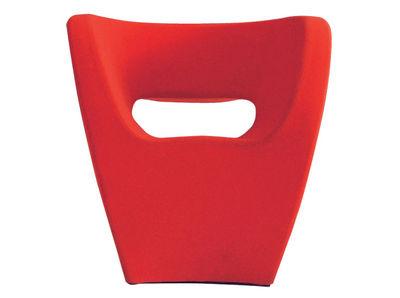 Mobilier - Fauteuils - Fauteuil Victoria and Albert / Revêtement tissu - Moroso - Tissu rouge - Laine