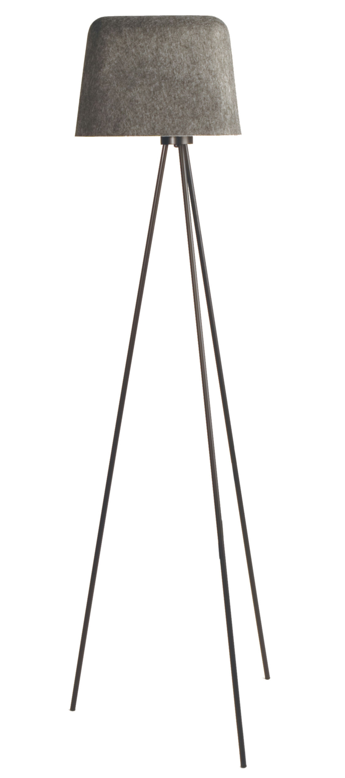Lighting - Floor lamps - Felt Shade Floor lamp by Tom Dixon - Grey - Felt, Metal