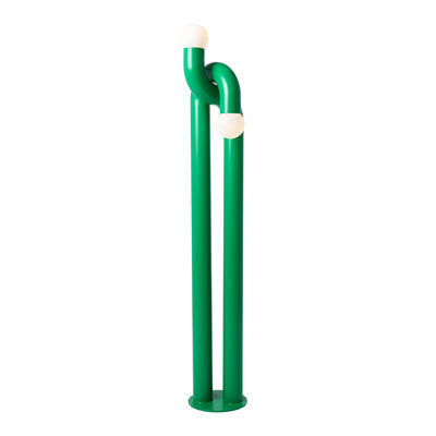 Lighting - Floor lamps - Modulation Floor lamp - / H 184 cm - Steel by Axel Chay - Green - Glass, Lacquered steel