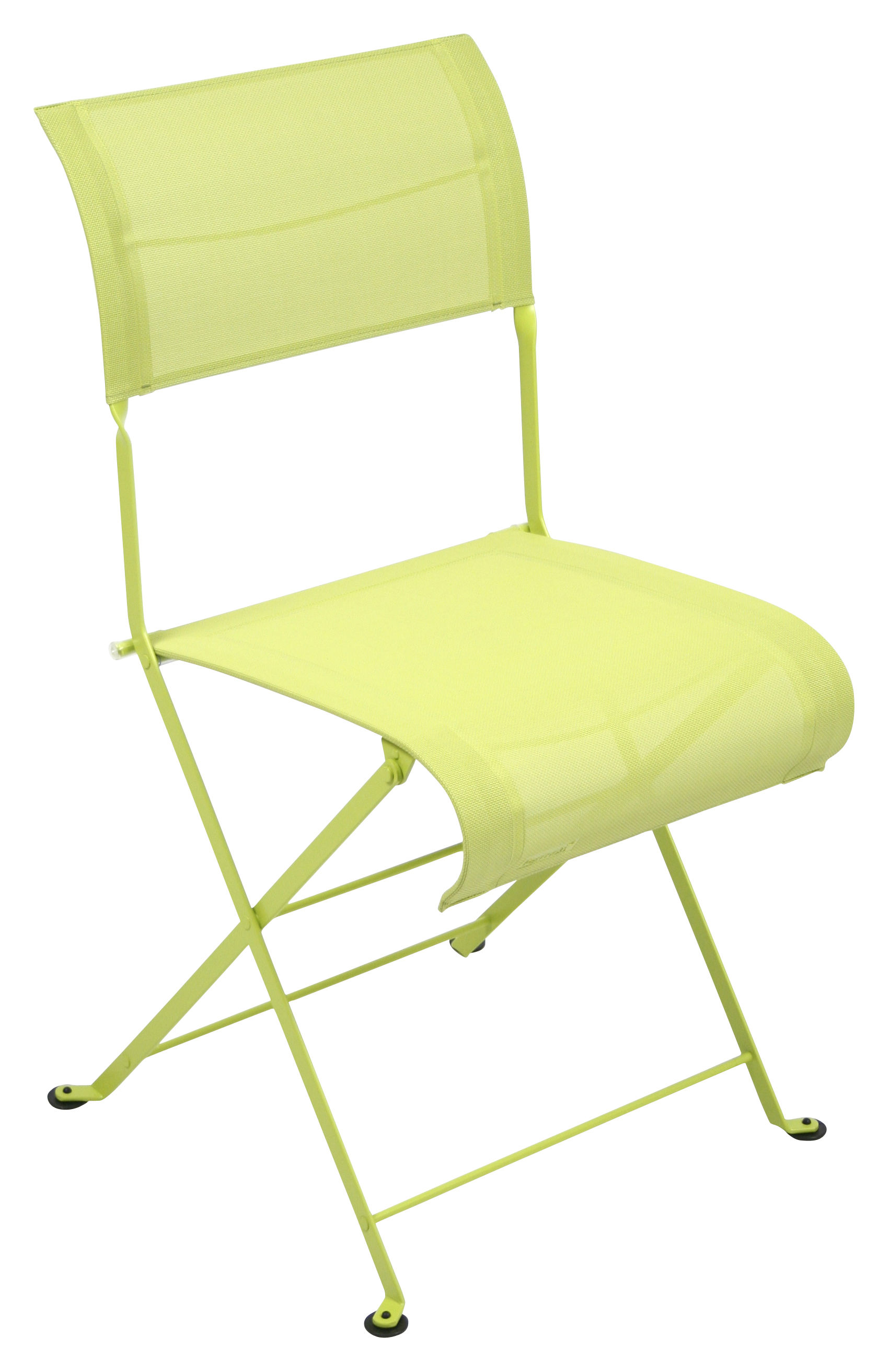 Furniture - Chairs - Dune Folding chair - Fabric by Fermob - Verbena - Lacquered steel, Polyester cloth